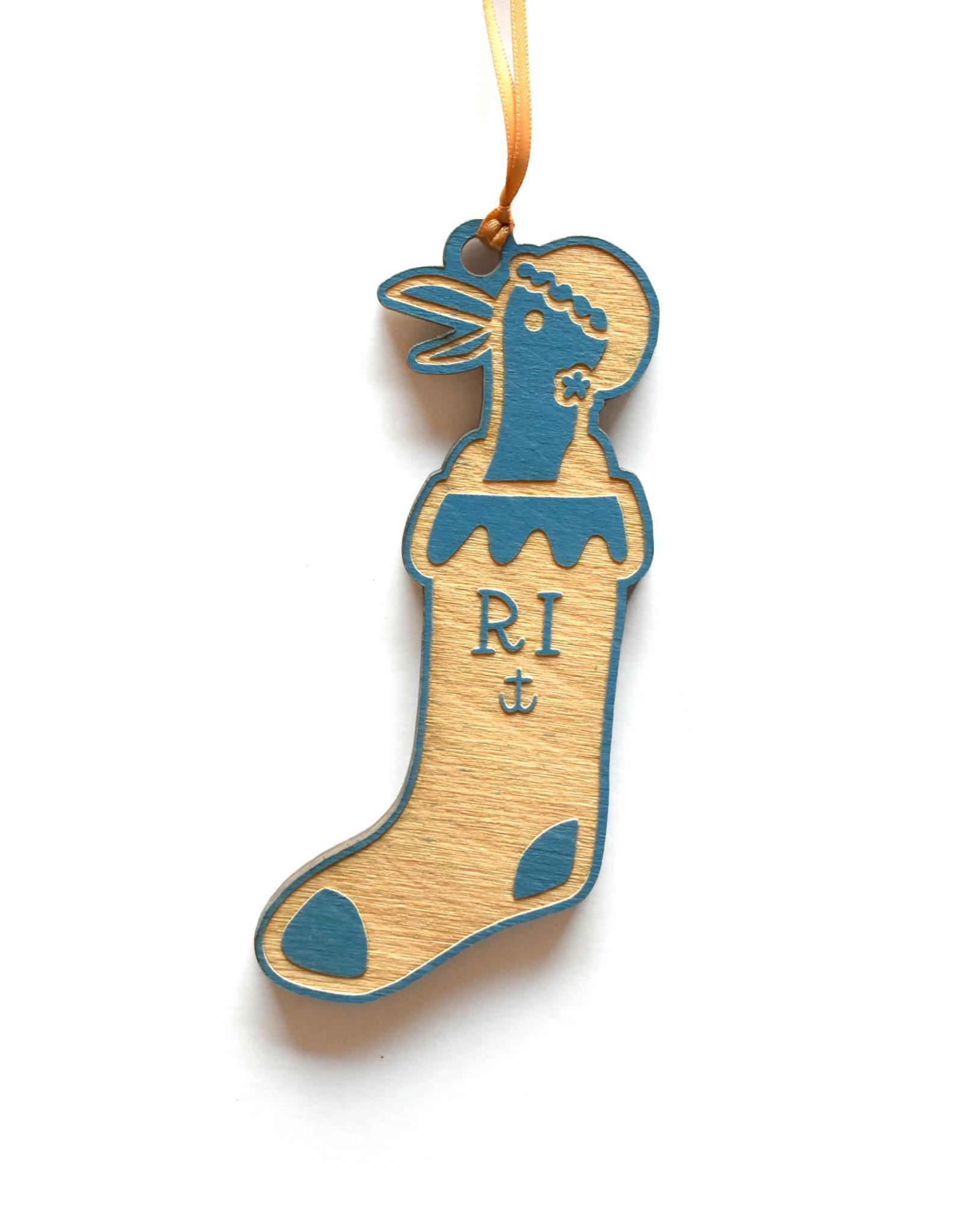 RI Seagull Stocking Ornament