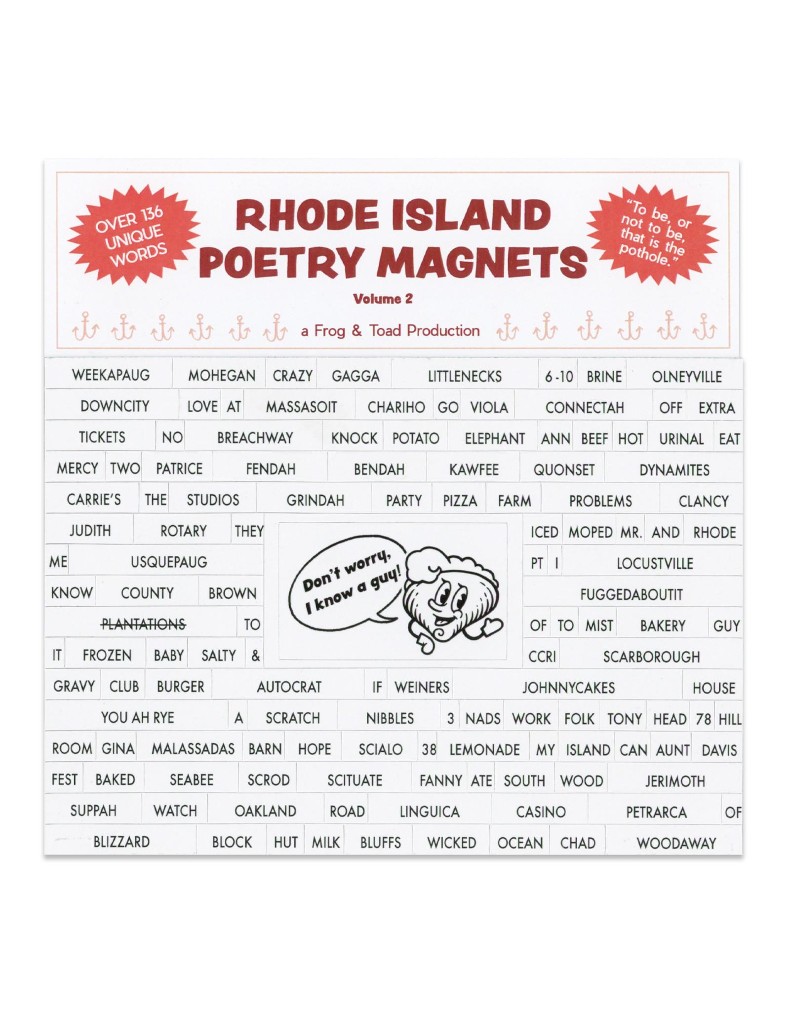Rhode Island Poetry Magnets Vol 2.
