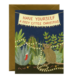 Cozy Little Christmas Mouse Greeting Card