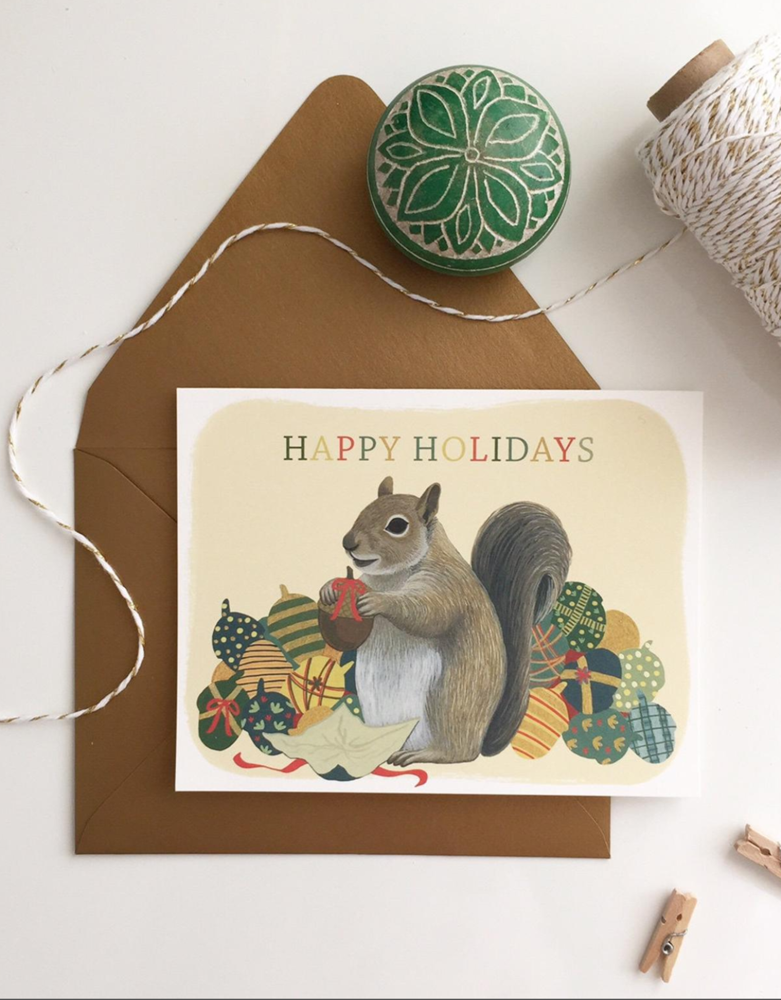 Happy Holidays Squirrel Boxed Set of 8