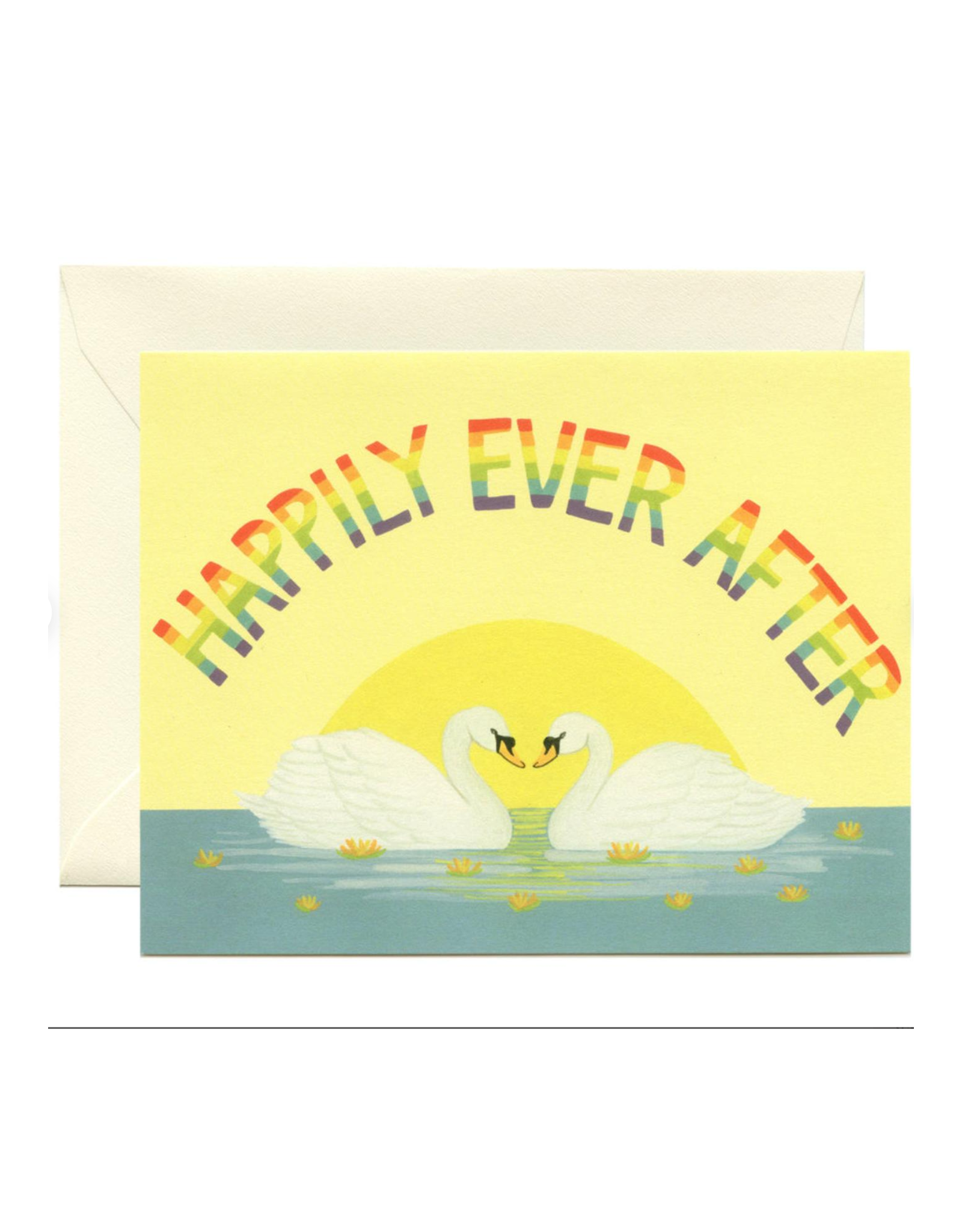 Happily Ever After Swans Greeting Card