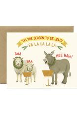 Tis The Season To Be Jolly Fa La La Greeting Card