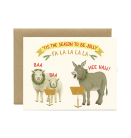 Tis The Season To Be Jolly Fa La La Greeting Card