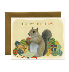 Happy Holidays Squirrel Greeting Card