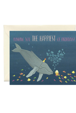 Happiest of Birthdays Whale Greeting Card