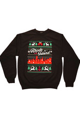 RI Cross-Stitch Christmas Sweatshirt (Black)