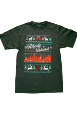 RI Cross-Stitch Christmas Shirt (Green)