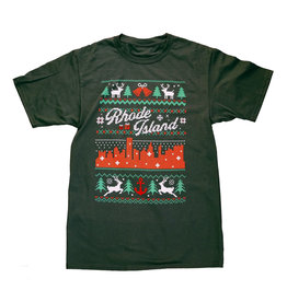 RI Cross-Stitch Christmas Shirt (Green)