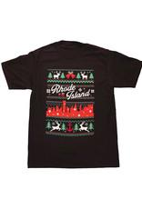 RI Cross-Stitch Christmas Shirt (Black)
