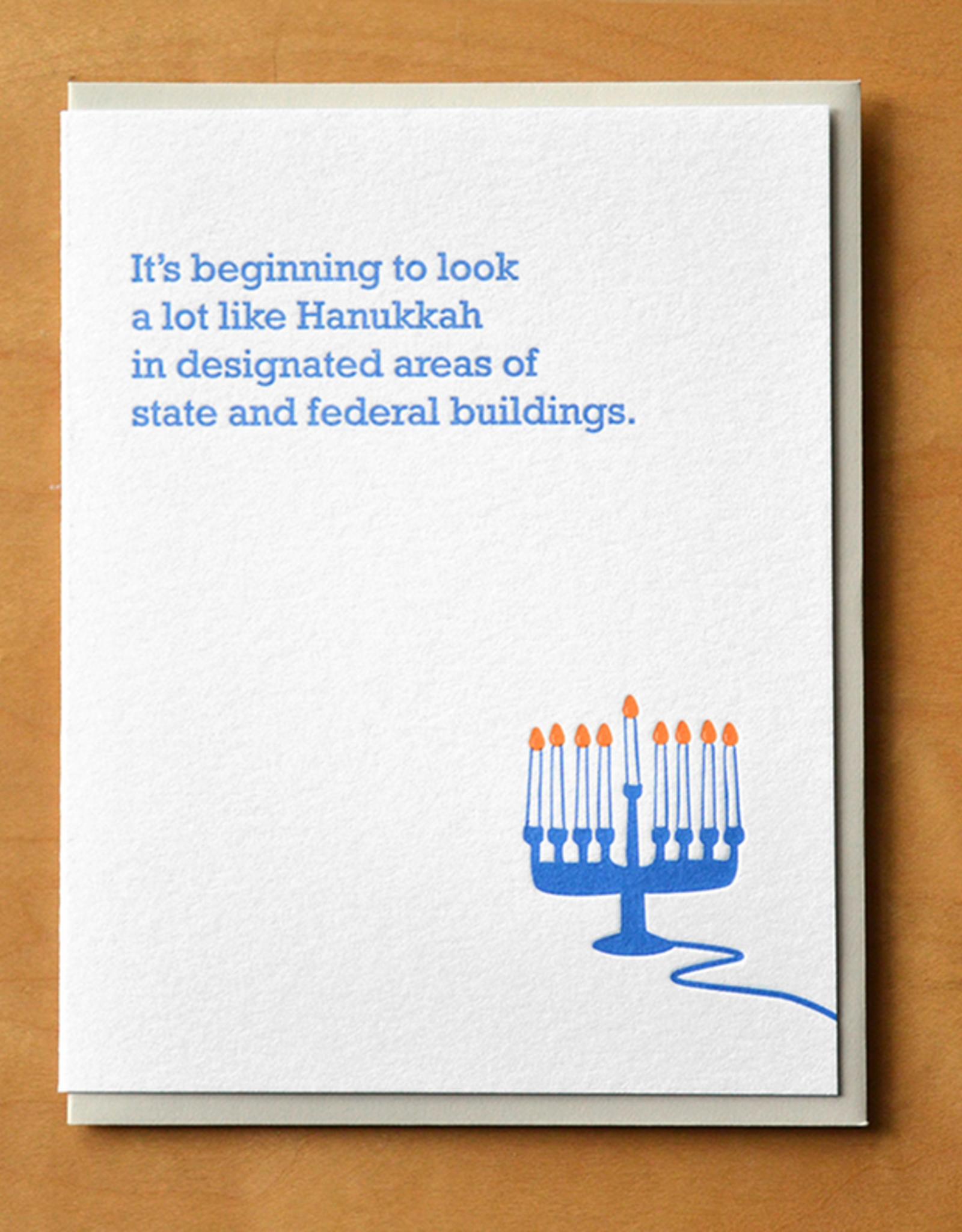 Hanukkah in Designated Areas of State & Federal Buildings Greeting Card