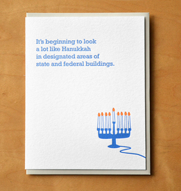 Hanukkah in Designated Areas of State & Federal Buildings Greeting Card