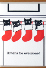 Kittens for Everyone! Stockings Greeting Card