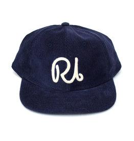 RI Script Corduroy Hat - Navy
