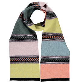 Block And Line Scarf: Sea And Sand