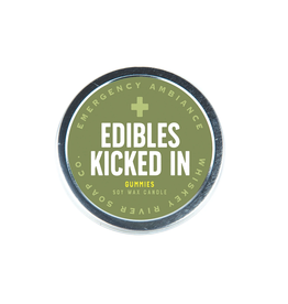 Edibles Kicked In Tin Candle