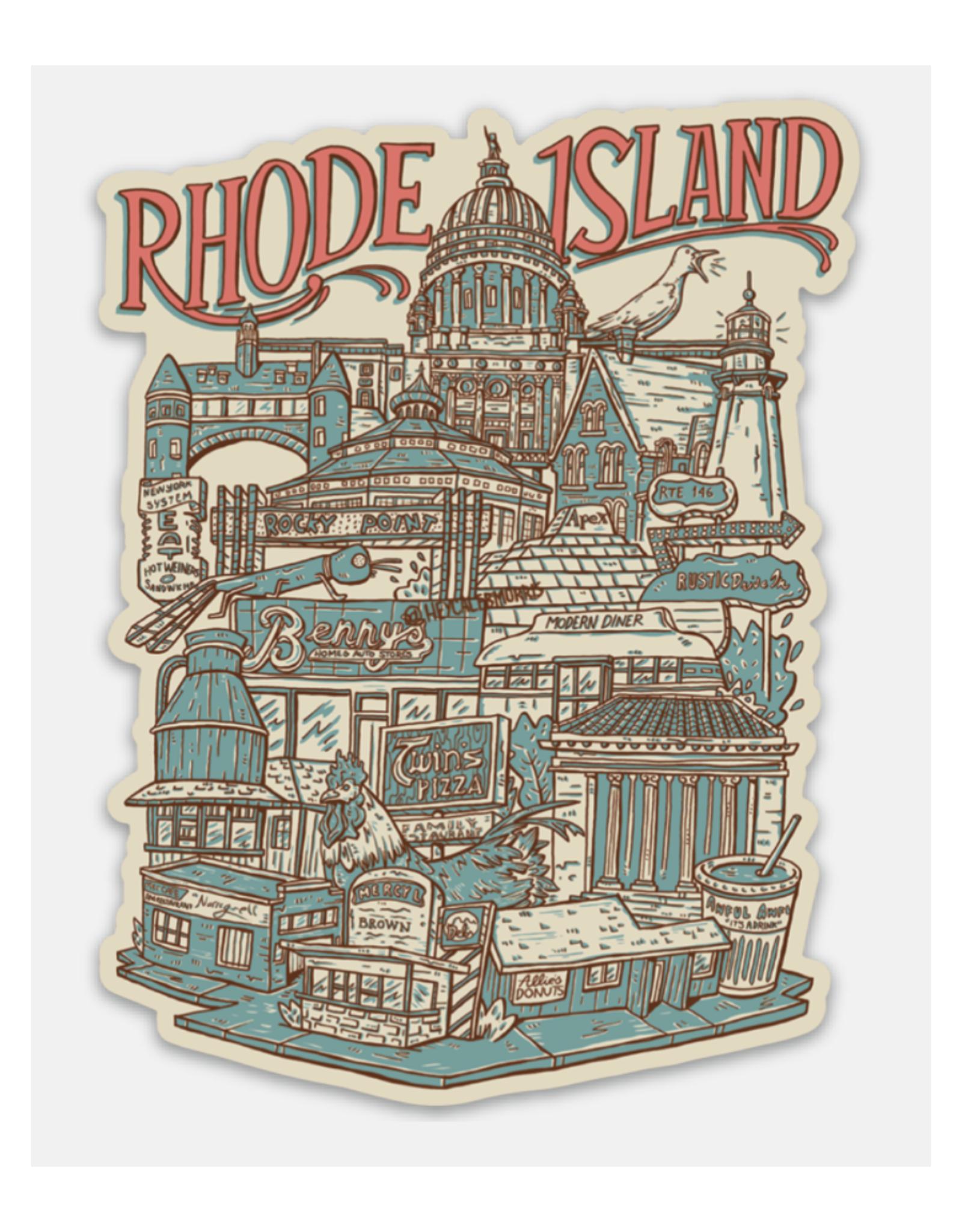 Rhode Island Neighborhoods Sticker