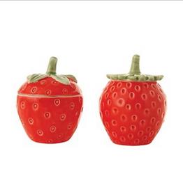 Round Stoneware Strawberry Jar, 1 of 2 Styles