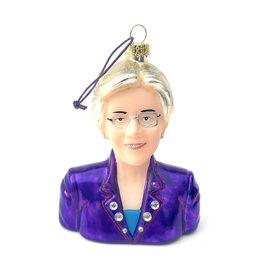 Elizabeth Warren Glass Ornament