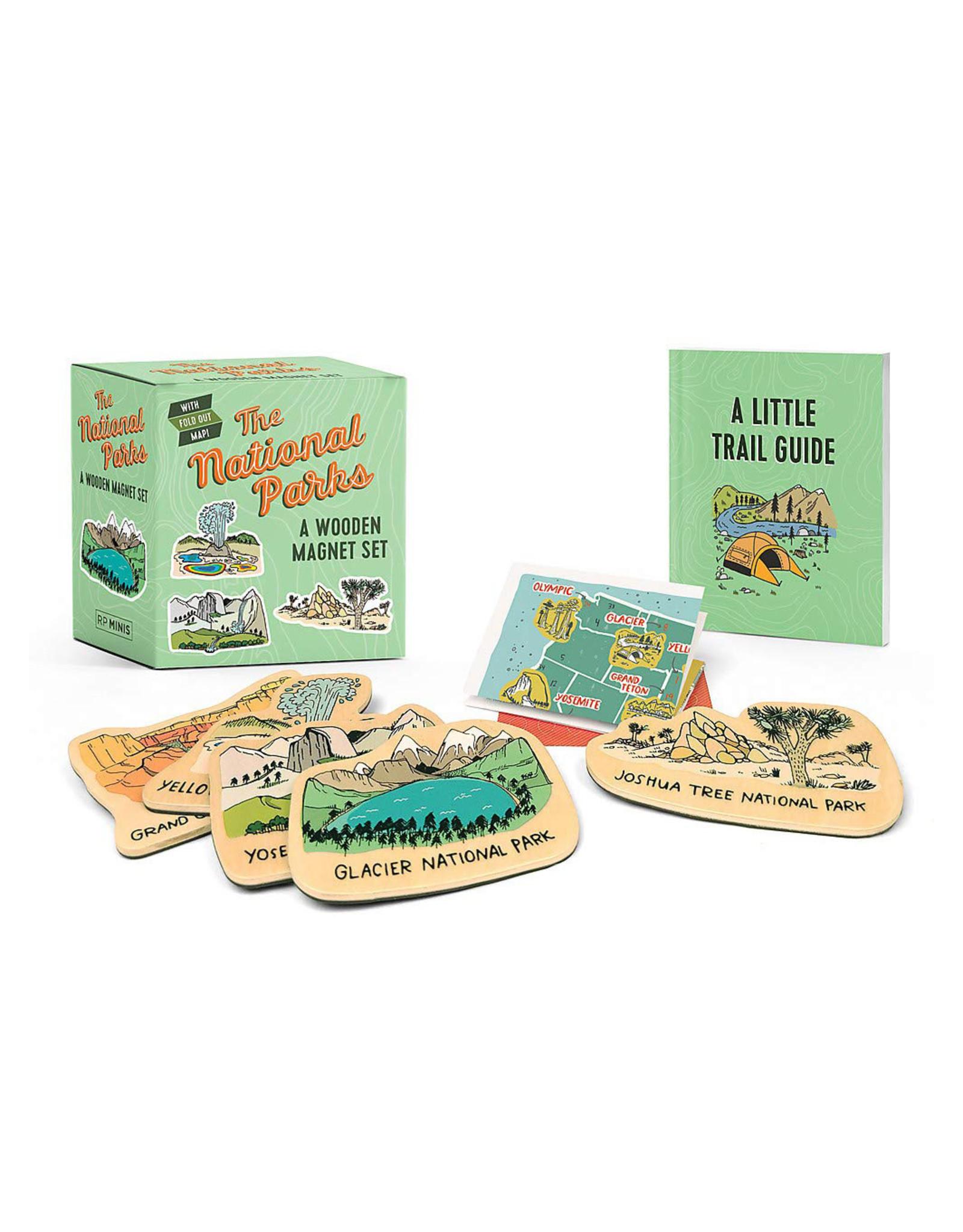 National Parks Wooden Magnet Set
