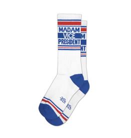 Madam Vice President Ribbed Gym Socks