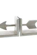 Arrow Cast Iron Bookends - Antique White (CURBSIDE PICKUP ONLY)