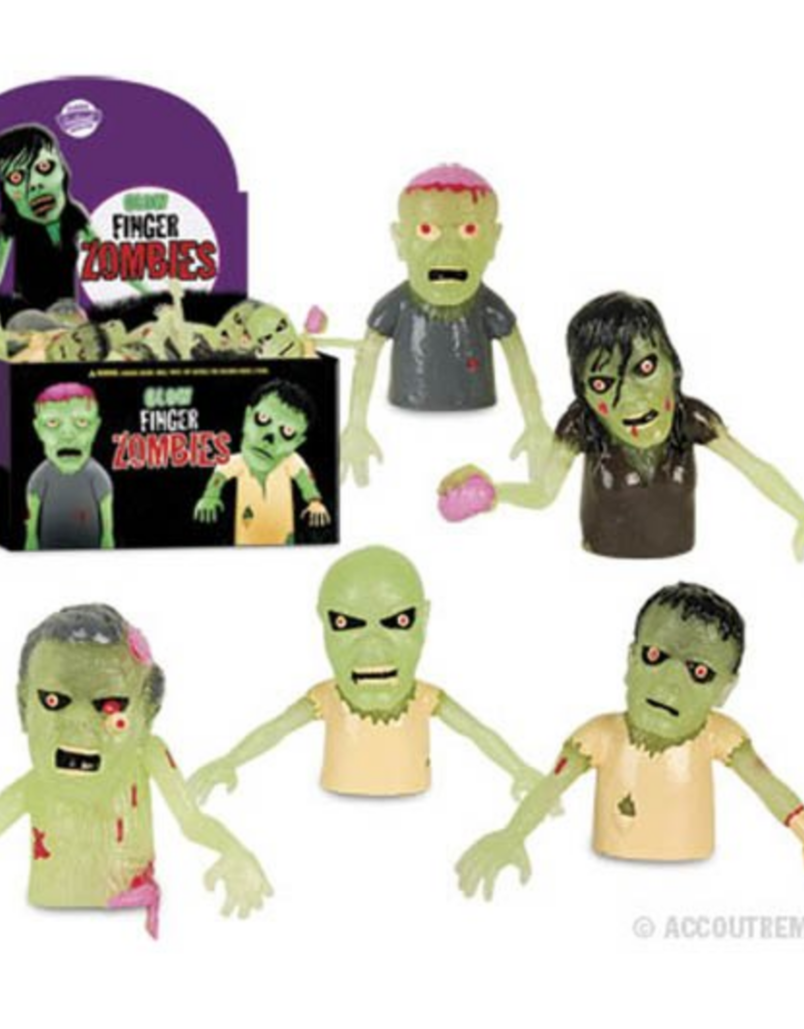 Glow Zombies Finger Puppet