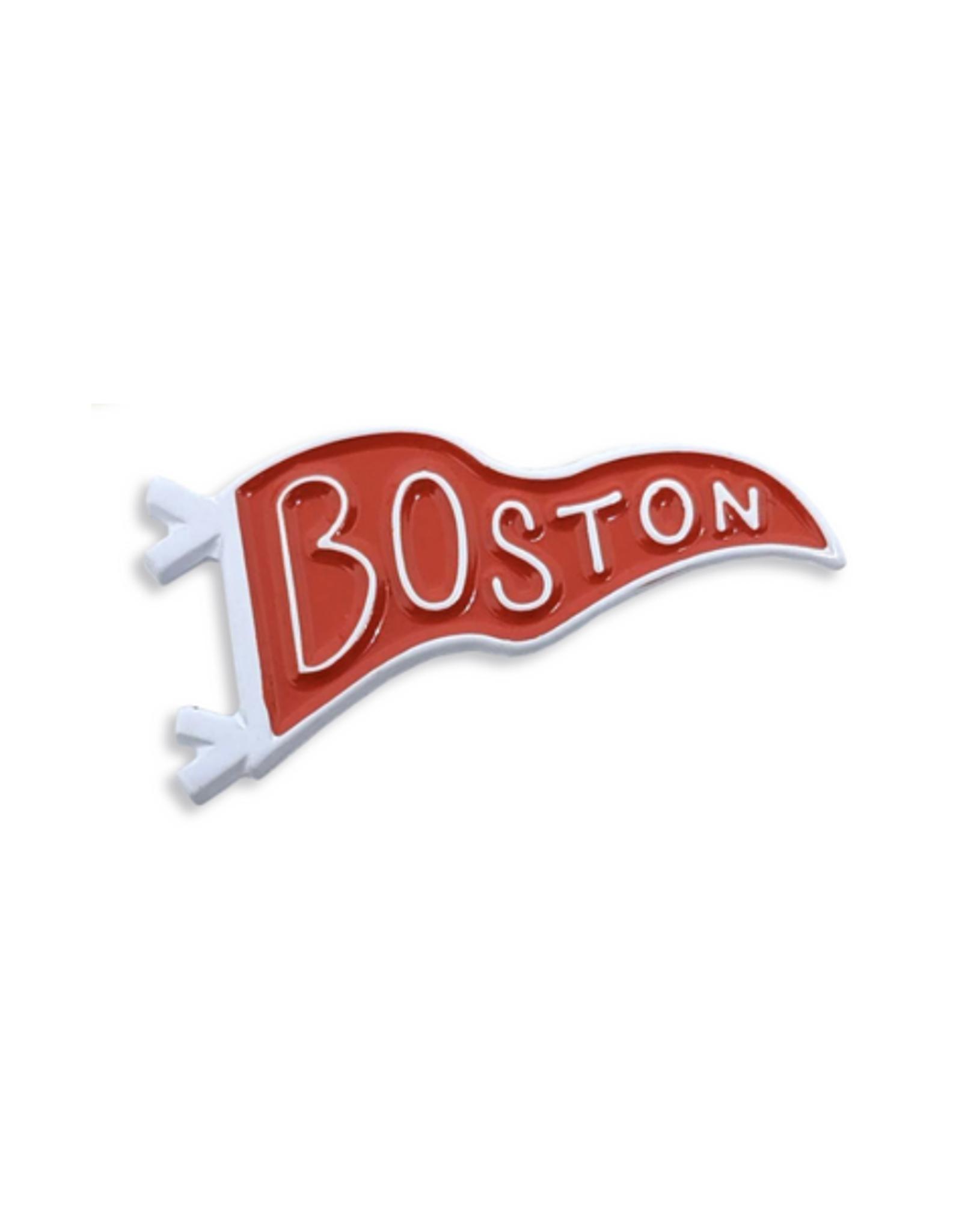 Boston Pennant Enamel Pin