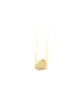 Petite Tiny Layering Heart Necklace - Gold Heart & Chain