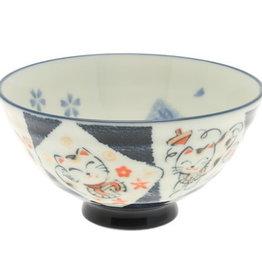 Lucky Tabby Cat Rice Bowl