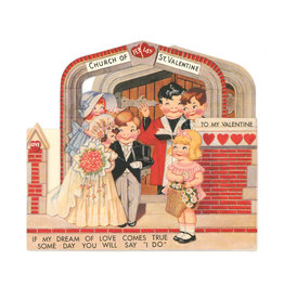 Bride & Groom 3D Valentine Card