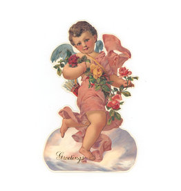 Cupid & Roses Easel Card