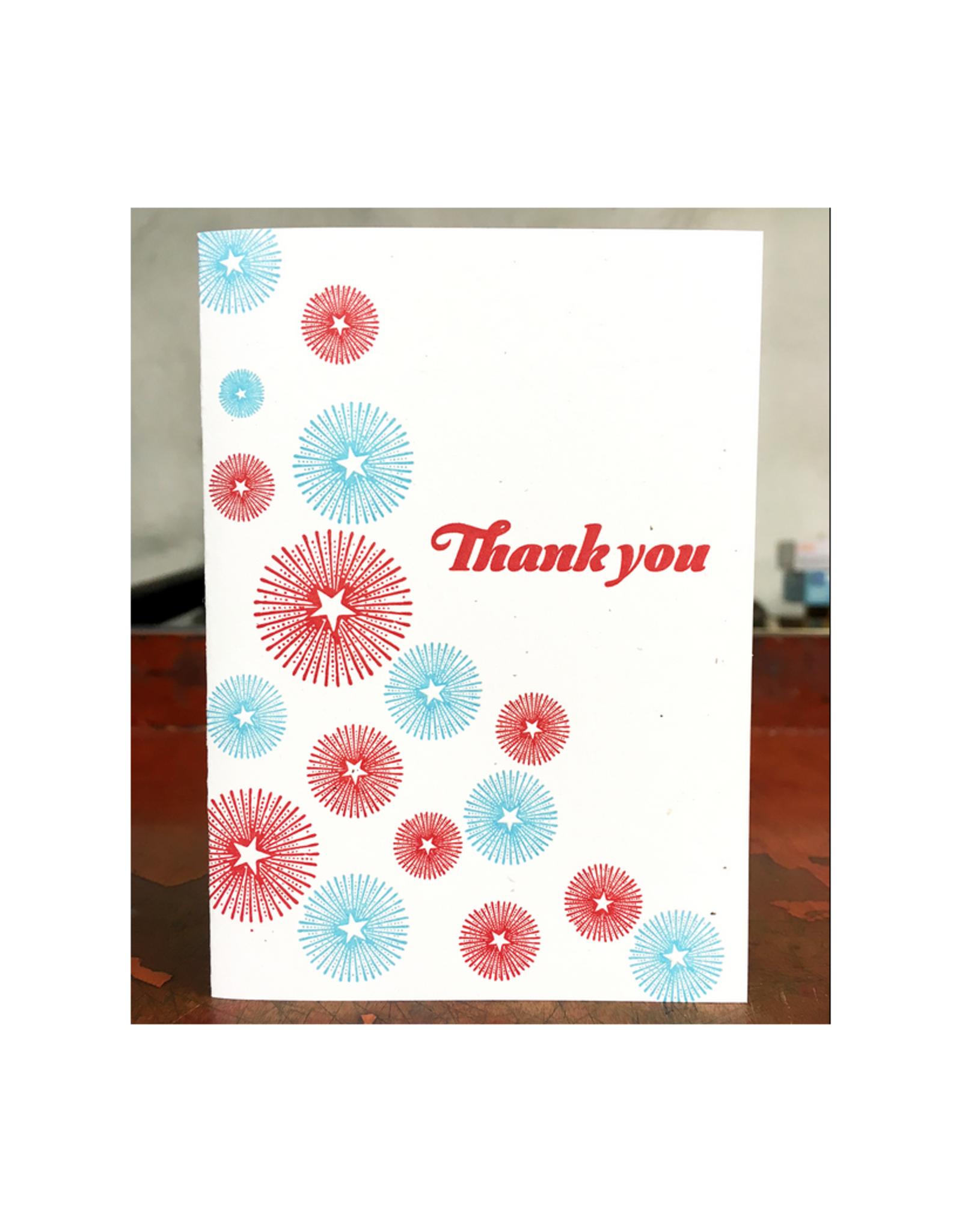Starburst Thank You Greeting Card