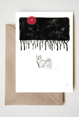 Winter Forest Shiba Greeting Card