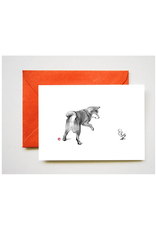 Shiba and Chick Greeting Card