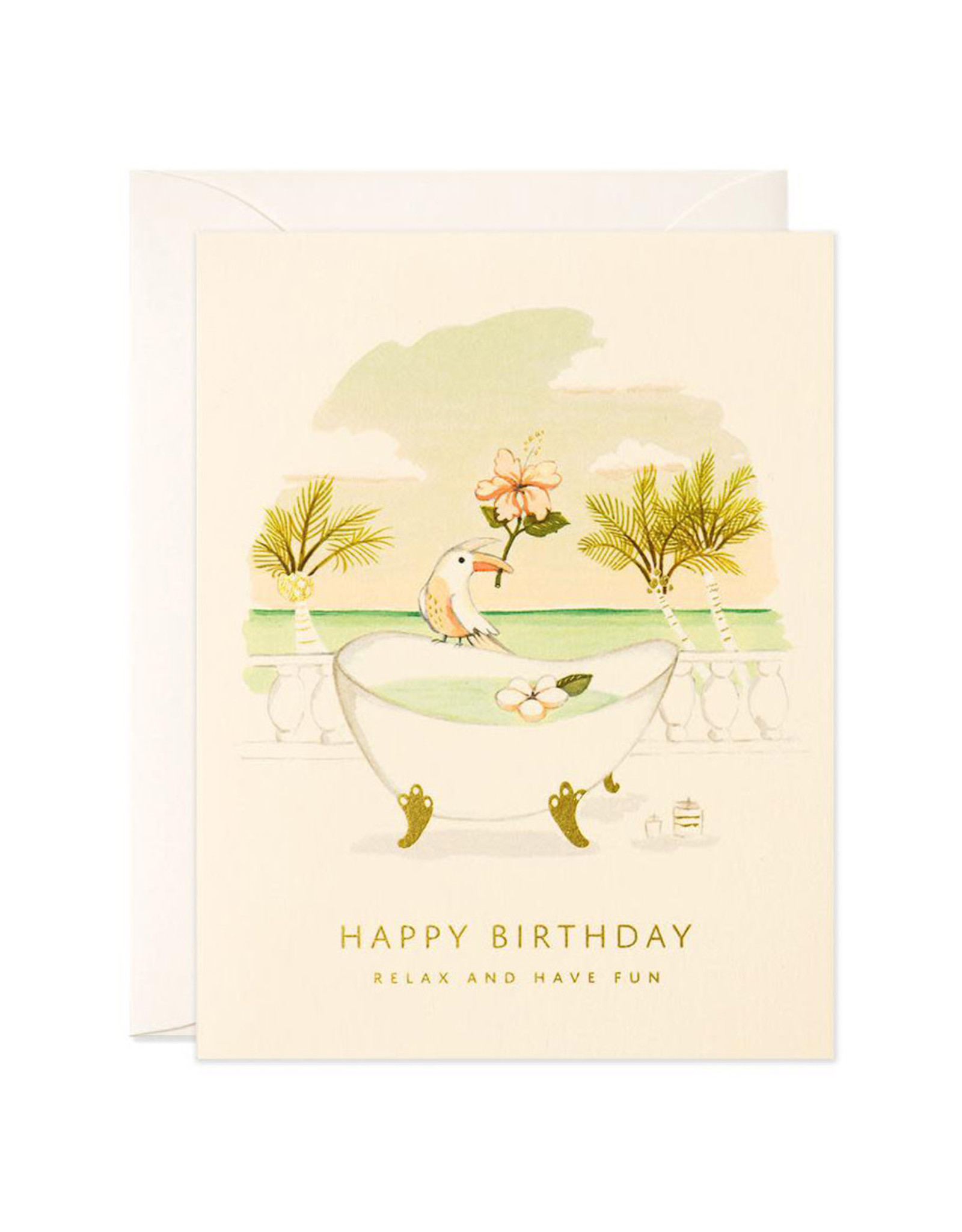 Relax & Have Fun Birthday Greeting Card