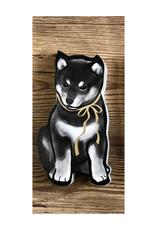 Black Shiba Greeting Card