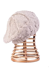 Knit Fleece-Lined Beret (Oatmeal)