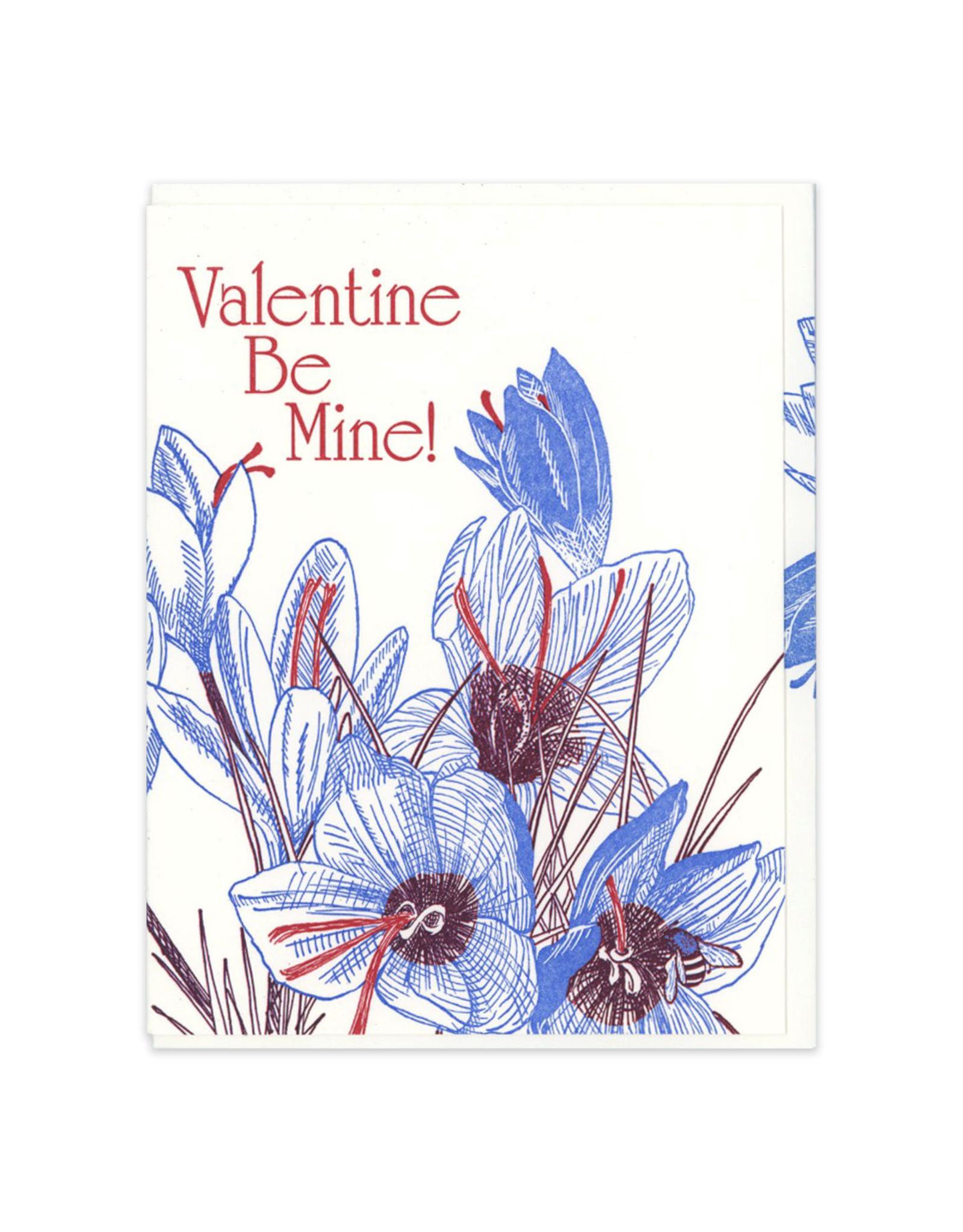 Valentine Be Mine (Saffron) Greeting Card