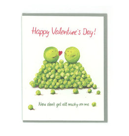 Mushy Peas Valentine's Greeting Card