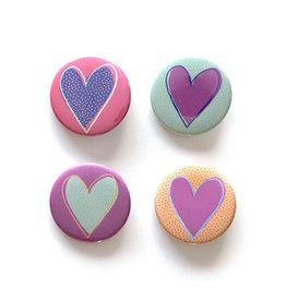 Love Button - Heart (Asst)