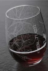 Providence RI Map Stemless Wine Glass
