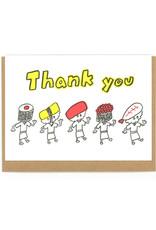 Thank You Sushi Men Greeting Card