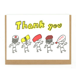 Thank You Sushi Men Greeting Card