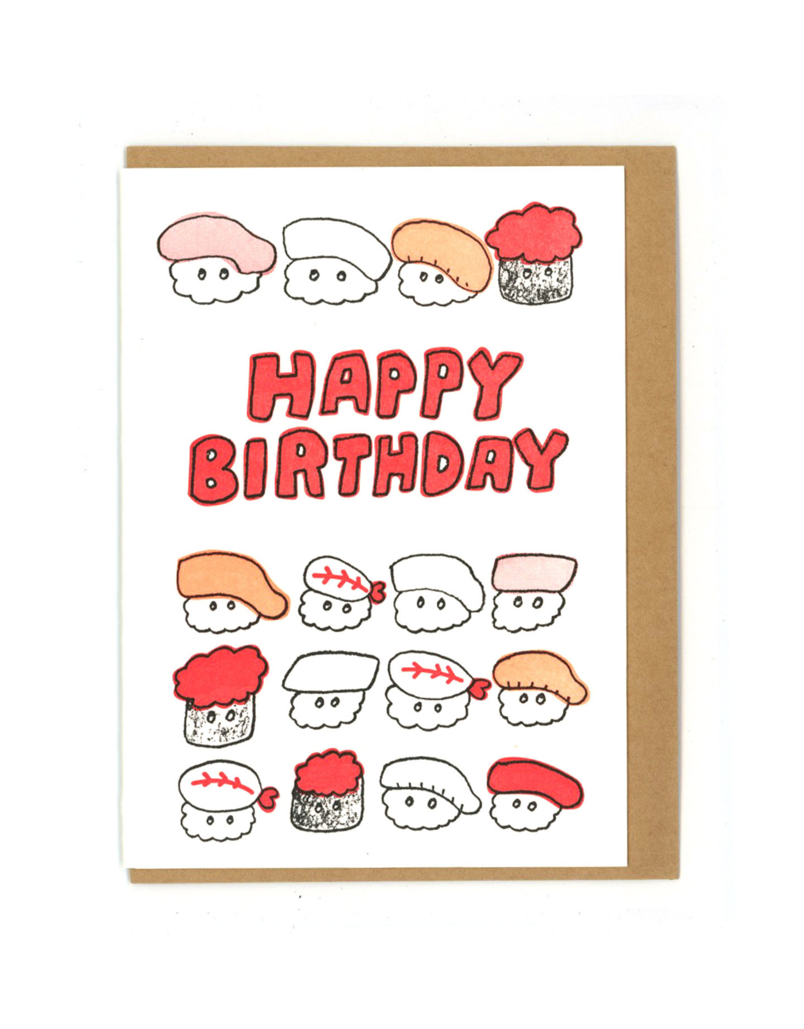 Happy Birthday Sushi Greeting Card