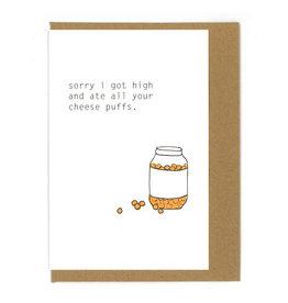 Cheese Puffs Greeting Card