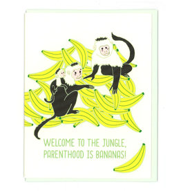 Welcome to the Jungle, Parenthood is Bananas! Greeting Card