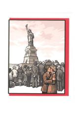 Statue of Liberty Kiss Greeting Card