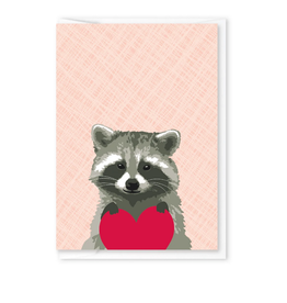Raccoon Heart Mini Card