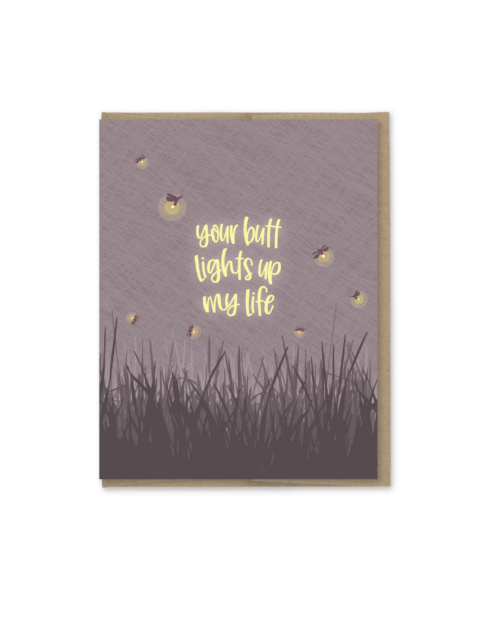 Your Butt Lights Up My Life Fireflies Greeting Card