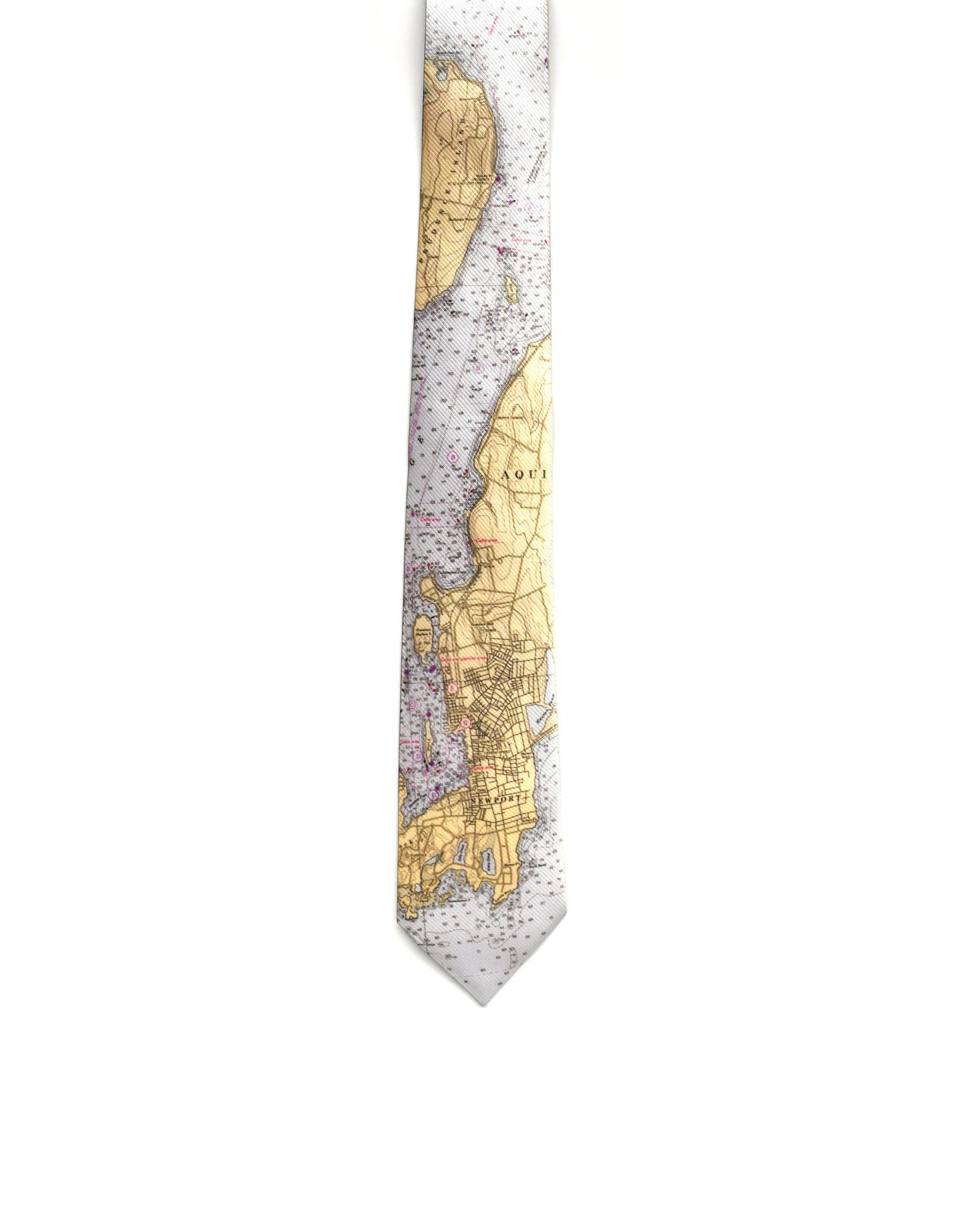Newport Charts Map Tie